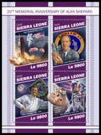 SIERRA LEONE 2018 MNH Alan Shepard Apollo 14 Space Raumfahrt Espace M/S - IMPERFORATED - DH1905 - Space