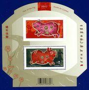 Canada 2007 Year Of The Pig Souvenir Sheet (#2202) MNH ! - 1952-.... Elizabeth II