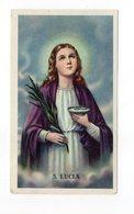 SANTINO Image Pieuse Religieuse Holy Card Santa Lucia Serie Eb 2 517 Perfetto - Devotieprenten