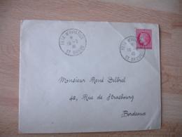 1946 Fete Aviation Saint Brieuc Obliteration Sur Lettre - Postmark Collection (Covers)