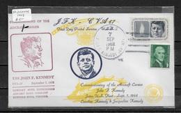 US 1968 JFK Cachet Cover Ship Cancel USS John F. Kennedy, US NAVY, VF-XF !! (RN-6) RARE !! - Event Covers