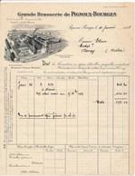 Facture De La Grande Brasserie De PIGNOUX à BOURGES  1928 Pour Personne De DONZY ( Recto Verso ) - 1900 – 1949