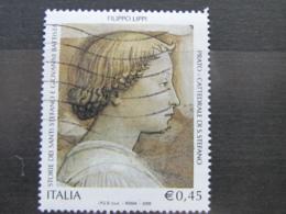 *ITALIA* USATI 2005 - LIPPI SANTI STEFANO GIOVANNI BATTISTA - SASSONE 2850 - LUSSO/FIOR DI STAMPA - 6. 1946-.. Repubblica