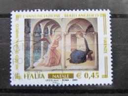 *ITALIA* USATI 2005 - NATALE - SASSONE 2852 - LUSSO/FIOR DI STAMPA - 6. 1946-.. Repubblica