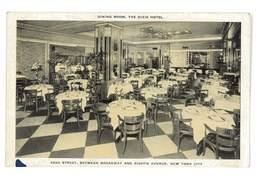 CPA ETATS-UNIS NEW-YORK CITY THE DIXIE HOTEL DINING ROOM - Cafés, Hôtels & Restaurants