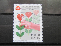 *ITALIA* USATI 2005 - AIDO - SASSONE 2847 - LUSSO/FIOR DI STAMPA - 6. 1946-.. Repubblica