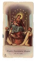 SANTINO Antico Pieuse Image Religieuse Holy Card MARIA VERGINE MADONNA DEL ROSARIO POMPEI SERIE AR 2065 - Devotion Images