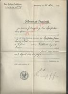 MILITARIA ANCIEN DUCUMENT D ALEMAGNE ZEUGNIS POLIZEI ( POLICE ) DIRECTIO WIESBADEN 1902 : - Police & Gendarmerie