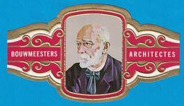 1 BAGUE DE CIGARE GRAND FORMAT BOUWMEESTERS ARCHITECTES DR. H.P. BERLAGE NEDERLAND PAYS BAS   (  119 MM ) - Bagues De Cigares