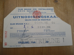 Football Club Brugge Schalke O 4 1996 - Tickets - Vouchers