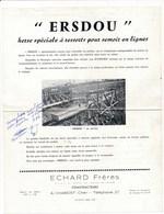 Page De Pub ERSDOU Herse Spéciale à Ressorts Pour Semoir ( Agriculture ) Echard Constructeurs à CHAROST 18 - Agriculture