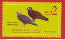 SOUTH SUDAN 2nd Issue = Süd-Sudan 2 SSP Birds Oiseaux SOUDAN Soedan - Sud-Soudan