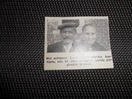 """Origineel Knipsel ( 2239 ) Uit Tijdschrift """" Ons Volk """"  1936  :  Sint Joris - Wingene - Vieux Papiers"""