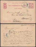 CONGO BELGE EP 15c DE MATADI 17/12/1891 VERS ANVERS (DD) DC-2040 - 1884-1894 Précurseurs & Leopold II