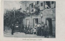 57 // GRUSS AUS IMLINGEN I LOTHR    LOUIS FRITZ   WIRTSCHAFT  ** - Autres Communes