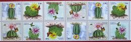 Tajikistan  2018  Cacti ( Butterflies,  Bees)  Strip Of 3 Series  MNH - Tayikistán
