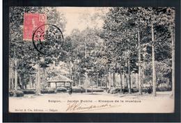 INDOCHINA Saigon Jardin Public Klosque De La Musique 1905 OLD POSTCARD - Viêt-Nam