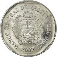 Monnaie, Pérou, 5 Centimos, 2007, Lima, TTB, Aluminium, KM:304.4a - Pérou
