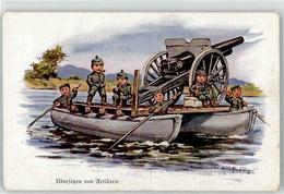 52923536 - Sign. Hoffmann Ad. Kind In Uniform Uebersetzen Von Artillerie - War 1914-18