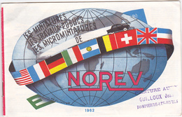 Catalogue Norev 1962 - Vieilles Voitures Miniatures Camions - 16 Pages - Jouets Anciens