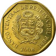 Monnaie, Pérou, 10 Centimos, 2008, Lima, SUP, Laiton, KM:305.4 - Pérou