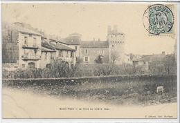 34 SAINT-PONS . La Tour Du Comte Pons , édit :  E Létuvé , écrite En 1904 , état Extra - Saint-Pons-de-Mauchiens