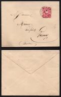 CHEMINOT - MOSELLE - LORRAINE  / 1883 LETTRE POUR VERNY  (ref 7421i) - Alsazia-Lorena