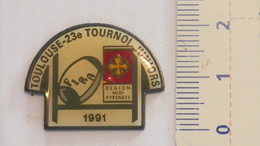 PIN'S - 23ème TOURNOI JUNIORS RUGBY - TOULOUSE 1991 - Rugby
