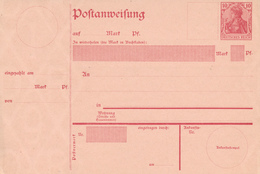 Deutsches Reich  -  1907  ,  Postanweisung - Alemania