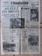 Journal L'Humanité (24 Août 1967) Désiré Letort - Avions US - Juliette Gréco - 1950 - Today