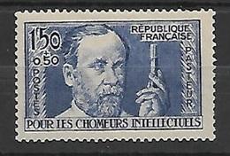 Timbre De FRANCE .PASTEUR  N° 333. COTE 47€. Année 1936. Très Bon Centrage. NEUF.*** - Unused Stamps