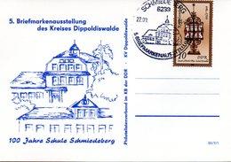 """(DDR-B2) DDR Sonderkarte """"5.BM-Ausstellung Des Kreises Dippoldiswalde"""", EF Mi 2797, SSt. 22.8.1984 SCHMIEDEBERG - Briefe U. Dokumente"""