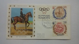 MONACO ..1°  Jour.d'émission..FDC ..1972 ..  XX°  OLYMPIADE - Joint Issues