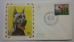 MONACO ..1°  Jour.d'émission..FDC ..1972 ..  EXPOSITION  CANINE  INTERNATIONALE ..GREAT D'ANE - Joint Issues