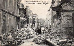 / Salon - Tremblement De Terre Du 11 Juin 1909 - La Rue D ' Avignon - Salon De Provence