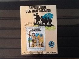 Central African Republic Block 75th Anniversary Scoutism. - Centrafricaine (République)