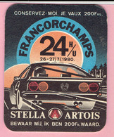 Bierviltje - STELLA ARTOIS - 24 H/U FRANCORCHAMPS - 1980 - Sous-bocks