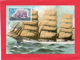 "Carte E 1° Jour ( Navire 4 Mâts Cap-hornier "" Antoinette "" - Timbres"