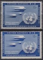 NATIONS UNIES (New-York) 1951:  Le 15c De La 1ère Série De Poste Aérienne, VARIETE 'bleu Au Lieu D'outremer Fcé', Neuf** - Ungebraucht