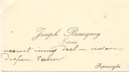 Visitekaartje - Carte Visite - Notaris - Notaire Joseph Boucquey - Poperinge - Cartes De Visite