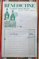 Liqueur BENEDICTINE Tampon Longwy Bas - Factures