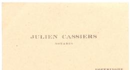Visitekaartje - Carte Visite - Notaris - Julien Cassiers - Poperinge - Cartes De Visite