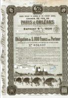 45-CHEMIN DE FER DE PARIS A ORLEANS. Obligation 5 000F 1936 DECO - Other