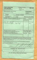 Panama  Customs  Declaration Label CN22 Declaration En Douane CN 22 - Panama