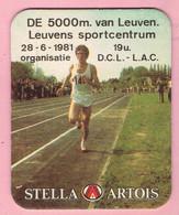Bierviltjes - STELLA ARTOIS - De 5000m Van Leuven - 1981 - Organisatie D.C.L. - L.A.C. - Beer Mats