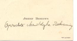 Visitekaartje - Carte Visite - Jozef Boedts - Watou - Cartes De Visite