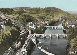 Rare Cpsm  Terrasson Les Deux Ponts Sur La Vezère Vue Aérienne - Autres Communes