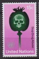 NATIONS UNIES (New-York) 1973:  Le 15c De La 1ère Série 'Stop Drug Abuse', Neuf** - New York -  VN Hauptquartier