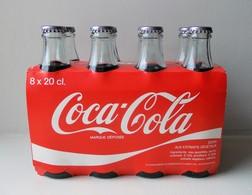 - RARE - Pack De 8 Bouteilles En Verre. COKE . COCA COLA - Coupe Du Monde De Foot Mexico 1986 - 20cl - - Flaschen
