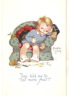 """""""Beatrice Mallet. They Told Me To Eat More Fruit!"""" Tuck Oiette Cute Kiddies Series PC # 3608 - Tuck, Raphael"""